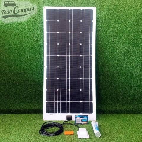 Kit Placa solar semi-flexible Monocristalina - Regulador PWM 10A - 100W