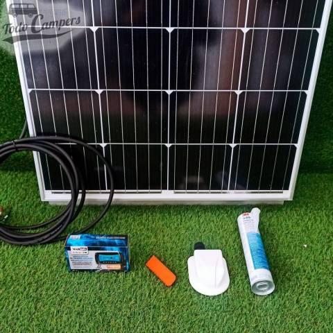 Montar panel solar en furgoneta con este kit
