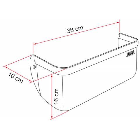 Medidas de Repisa Portaobjetos Fiamma Pocket XL