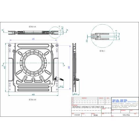 medidas base giratoria conductor ford transit 2000-2013 - FASP