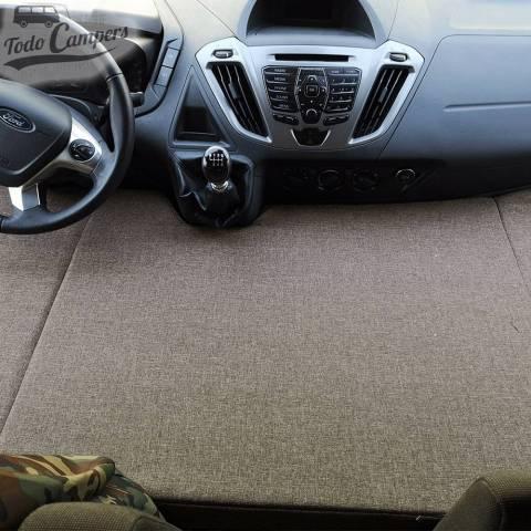 Cama plegable infantil para Ford Custom desde 2013 y Ford Transit Van desde 2014