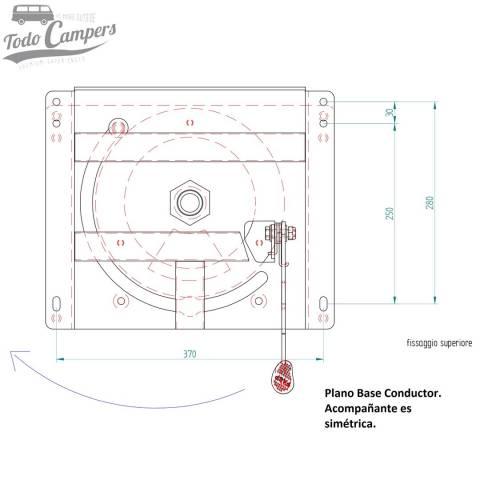 plano base giratoria conductor