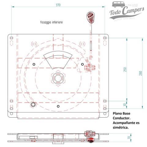plano asiento giratorio  Master Movano Interstar 2004-2010