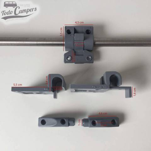 Medidas de las piezas del kit para hacer  mesa abatible camper