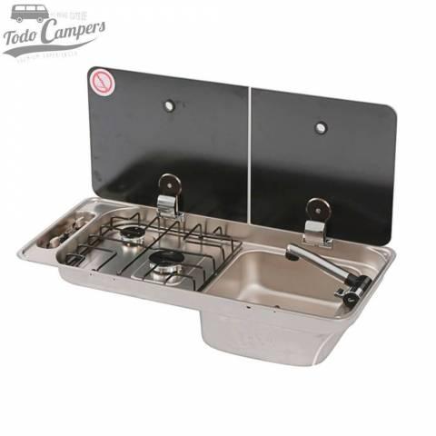 Cocina-Fregadero CAN 2 fuegos FL1401