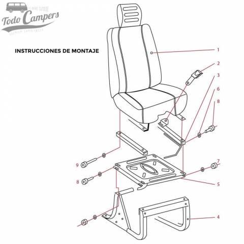 Instrucciones de montaje de base en Fiat Ducato