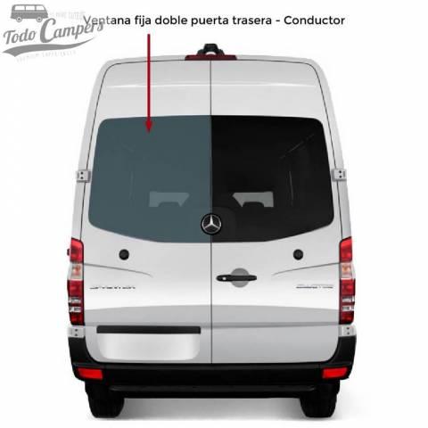 Ventana fija doble puerta trasera Conductor para Mercedes Sprinter 2006-2018 y VW Crafter 2006-2016