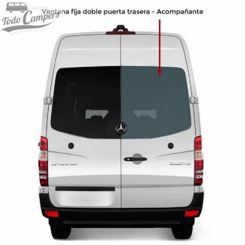 Ventana fija doble puerta trasera Acompañante para Mercedes Sprinter 2006-2018 y VW Crafter 2006-2016