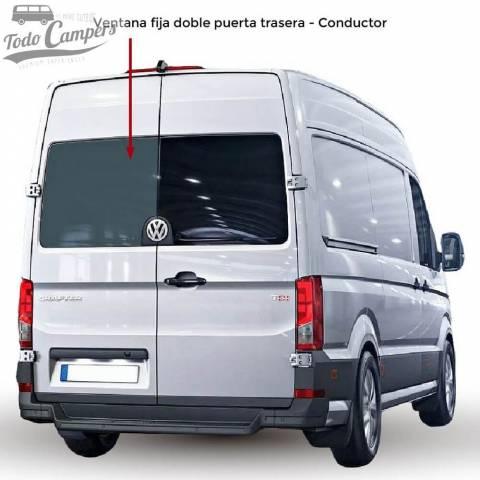 Ventana fija doble puerta trasera Conductor para VW Crafter desde 2017