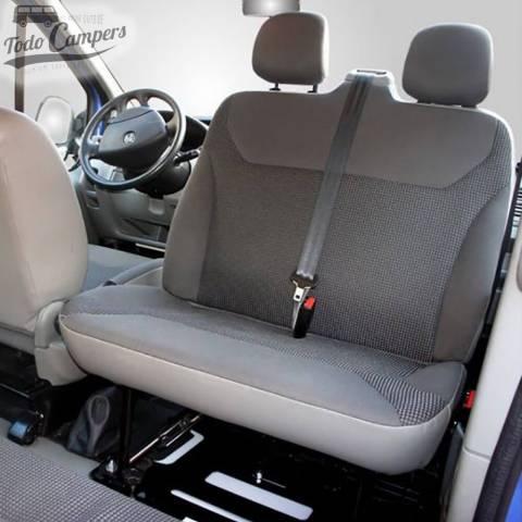 Girar asiento doble del acompañante en Renault Trafic, Opel Vivaro y Nissan Primastar 2002-2014