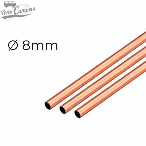 Tubo de cobre endurecido 8mm para instalaciones de gas (2,5 metros)