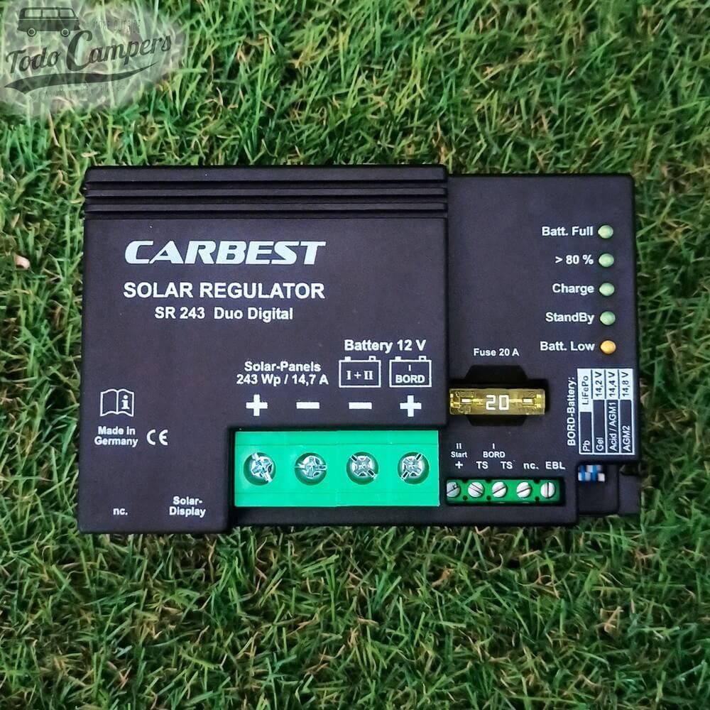 Regulador solar dual (para dos baterías) Carbest de 15A - PWM