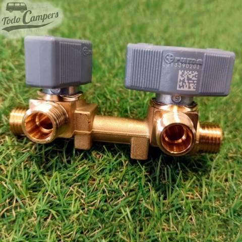 Llave de paso de gas de 2 vias 8mm
