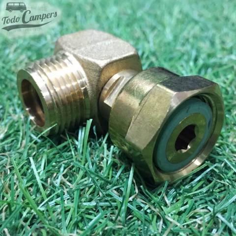 Conector para tubo de gas de 8mm