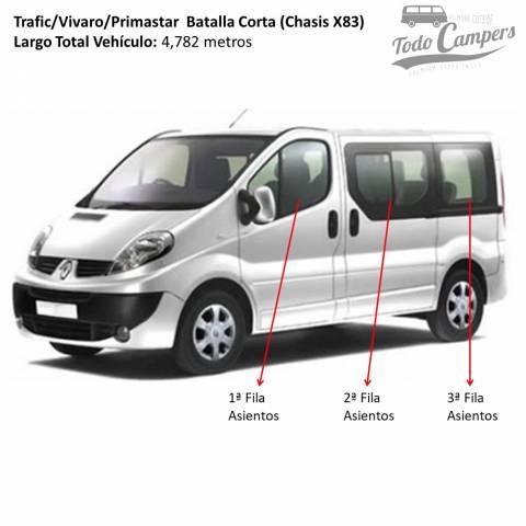 Trafic Vivaro Primastar 2002-2014 asientos y filas