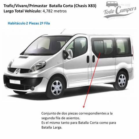 Trafic Vivaro Primastar 2002-2014 habitaculo 2 piezas 2º fila