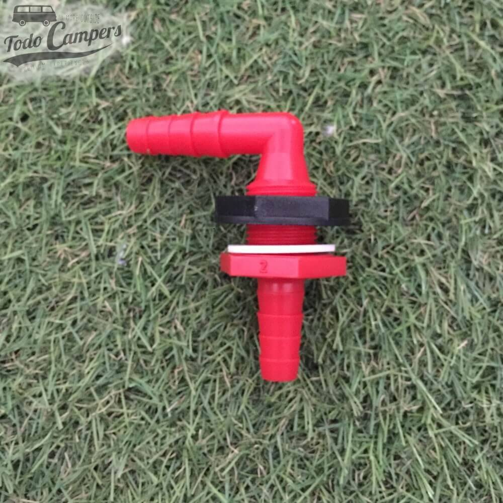 Pasamuros codo 90 grados para mangueras -10-12mm