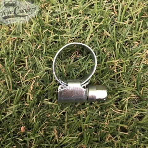 abrazadera cincada para mangueras de 8 a 16mm