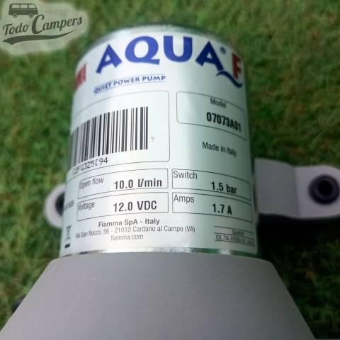 pegatina de la bomba a presión 12v Fiamma Aqua F - 10 Litros