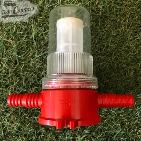Filtro de agua para bombas de agua