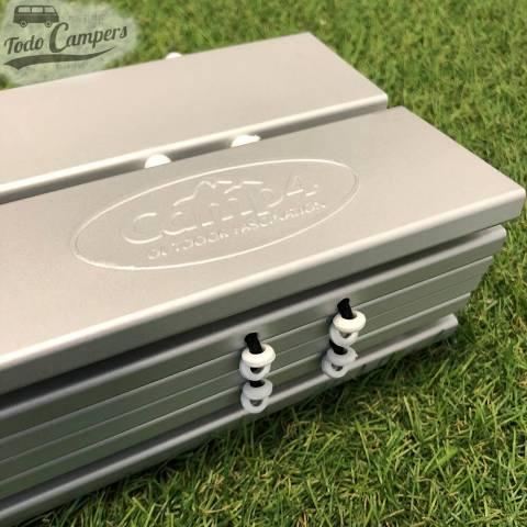 Lamas de aluminio enrollable para una mejor comodidad al transportar la mesa