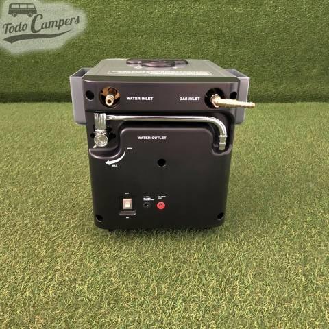 Termo de gas portátil, proporciona agua caliente en cuestión de segundos a través de su grifo o ducha
