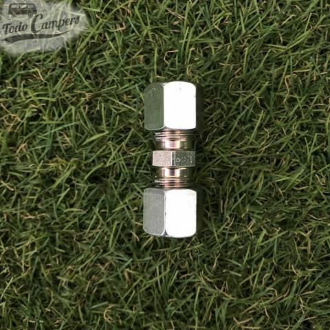 Conector recto ermeto 8mm para tubo de gas