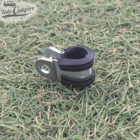 Abrazadera caucho sujeción tubo cobre 8mm