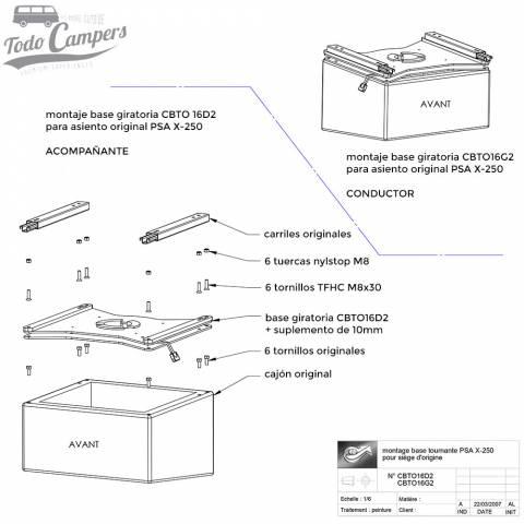 instrucciones para montaje de base giratoria acompañante ducato jumper boxer desde 2007