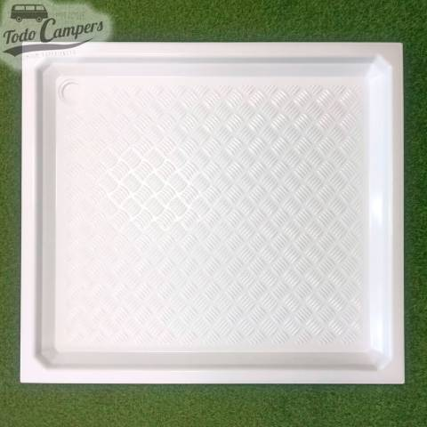 Plato de ducha blanco 91,5x82cm - Encastrable