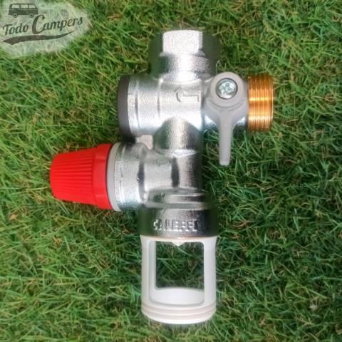 Válvula de drenaje de presión para boilers