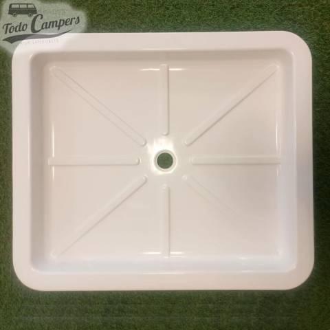 Plato de ducha blanco 59x51x6cm - Encastrable