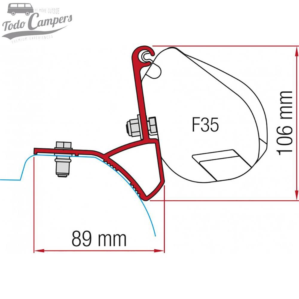 Soporte Toldo Fiamma F35 Pro Trafic Vivaro Talento NV300 desde 2015