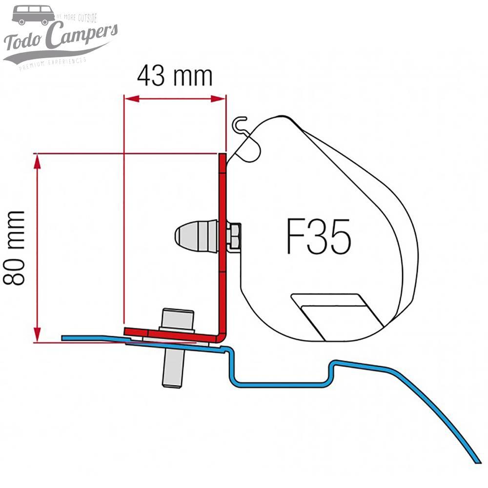 Soporte Toldo Fiamma F35 Pro - Nissan NV200