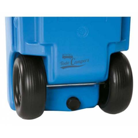 Depósito portátil con ruedas -  23 litros. Depósito aguas limpias para tu furgoneta, autocaravana o caravana