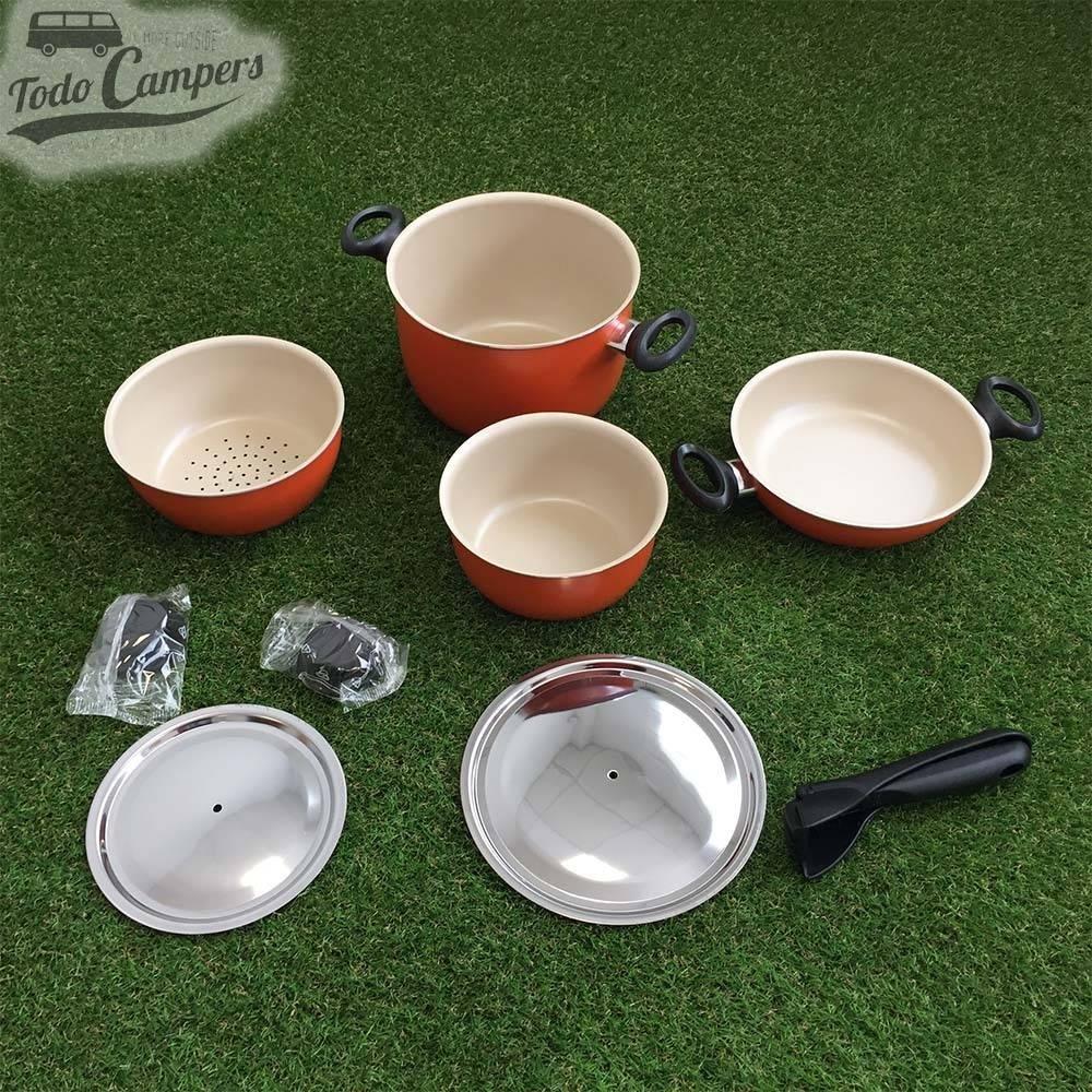 Set de cocina camper Topseft, 7 piezas