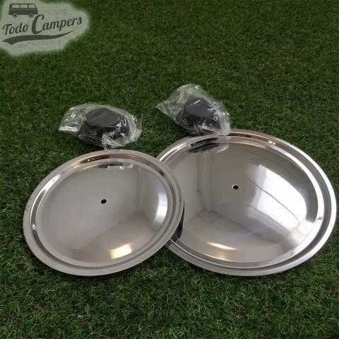 tapas de acero para ollas y sartén con diámetro de 18 y 22 cm
