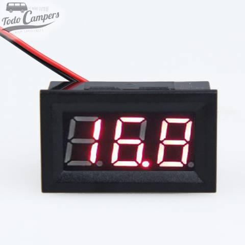 Voltímetro LED 12v