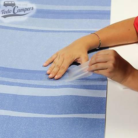 PVC para arreglo de toldos ante desgarre o corte