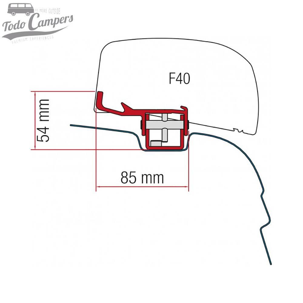 Soporte Toldo Fiamma F40Van para Volkswagen T5 y T6