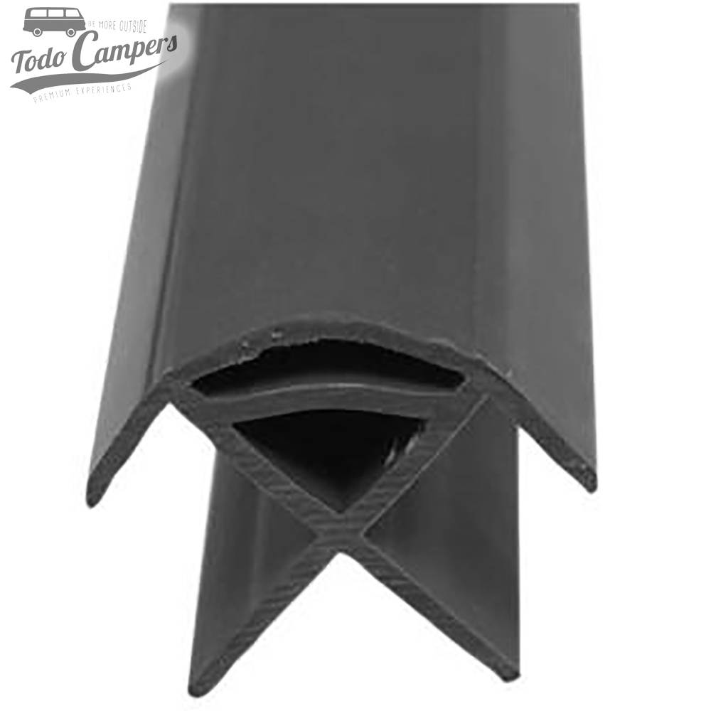 Perfil PVC Antigolpes - Gris Oscuro