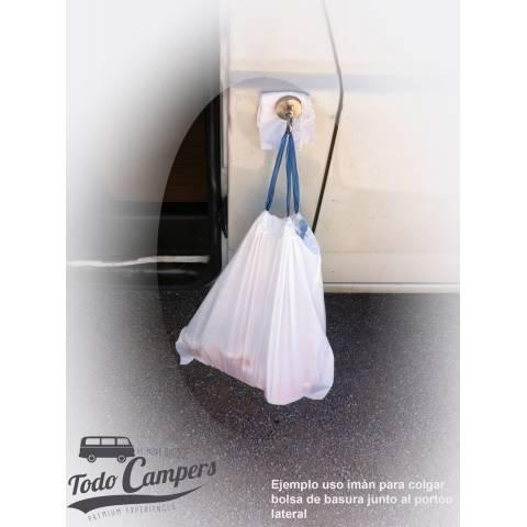Resultado de imán usado para colgar la bolsa de basura