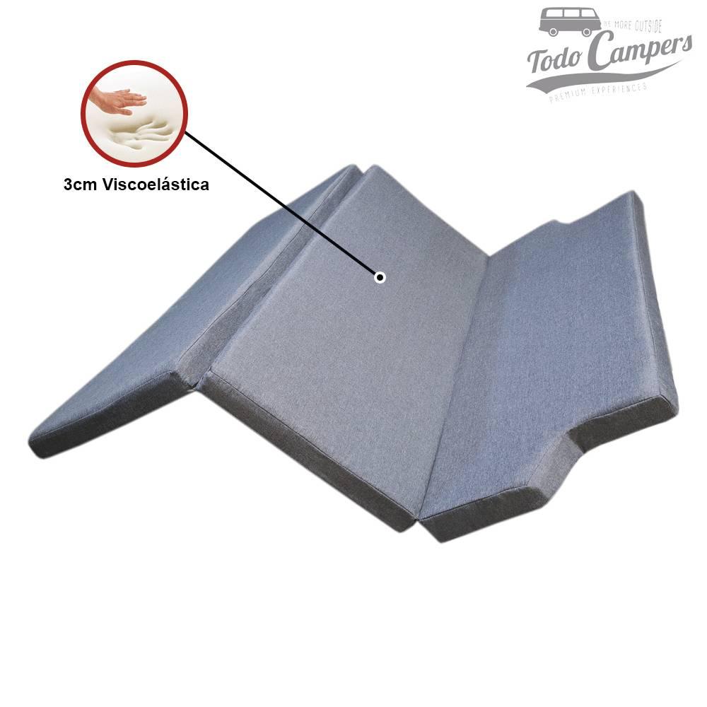 Colchón de espuma HR + Visco (3+3 cm) para VW T5, T6 y T6.1 desde 2003 - CHENILLA