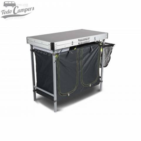 Mesa de cocina para camping modelo KAMPA Chieftain. Ideal para cubrir tus necesidades culinarias en tus escapadas al aire libre