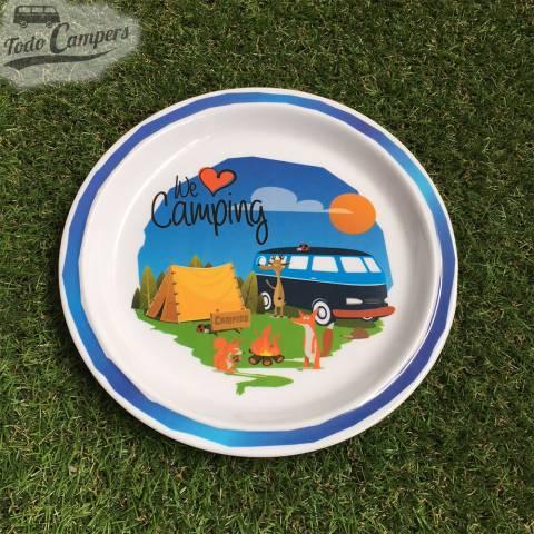 plato llano infantil de we love camping