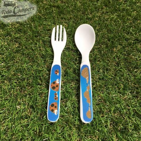 cuchara y tenedor para los más pequeños