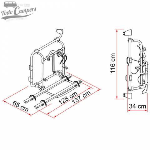 Medidas del Carry Bike para Volkswagen Crafter