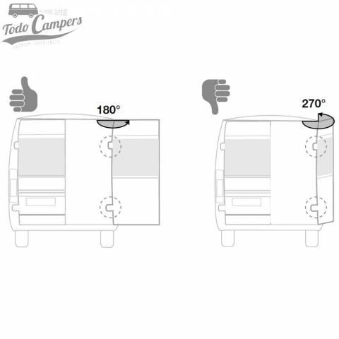 Correcta instalación del Portabicicletas en furgonetas de doble puerta