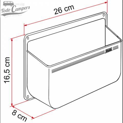 Medidas de Repisa Portaobjetos Fiamma Pocket L