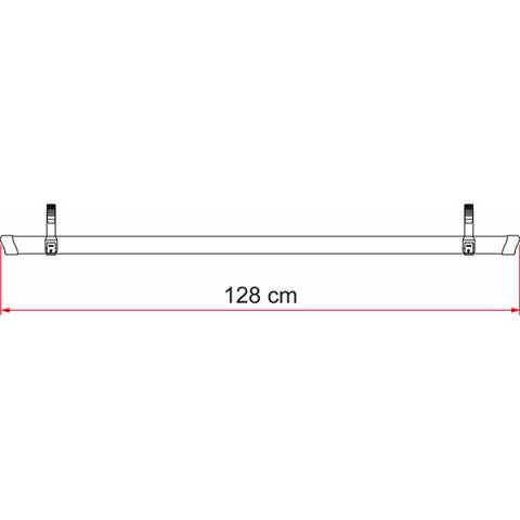 Rail Quick 128 Negro de 128 cm